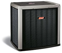 Outdoor unit of a Coleman heat pump system